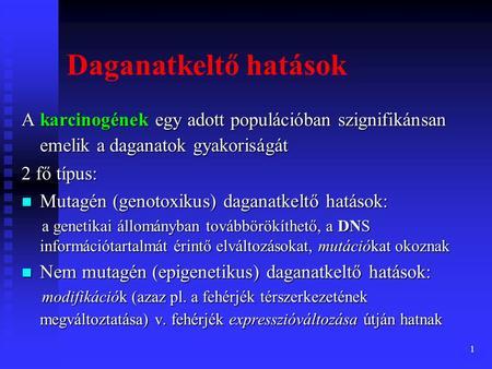 genetikai daganatok